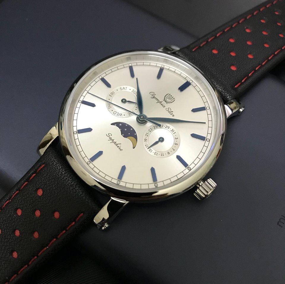 đồng hồ op quai da