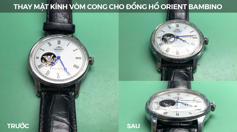 Thay kính đồng hồ Orient