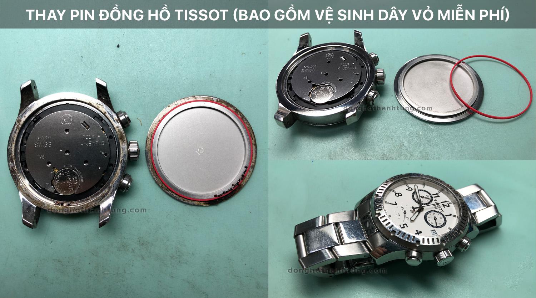 Thay pin đồng hồ đeo tay Tissot