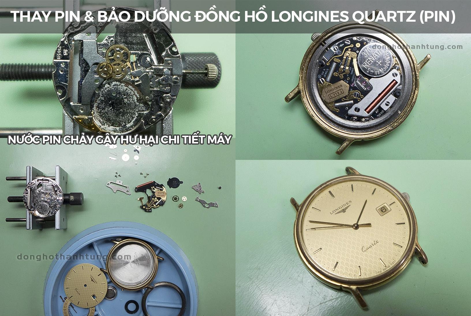 Thay pin đồng hồ đeo tay Longines