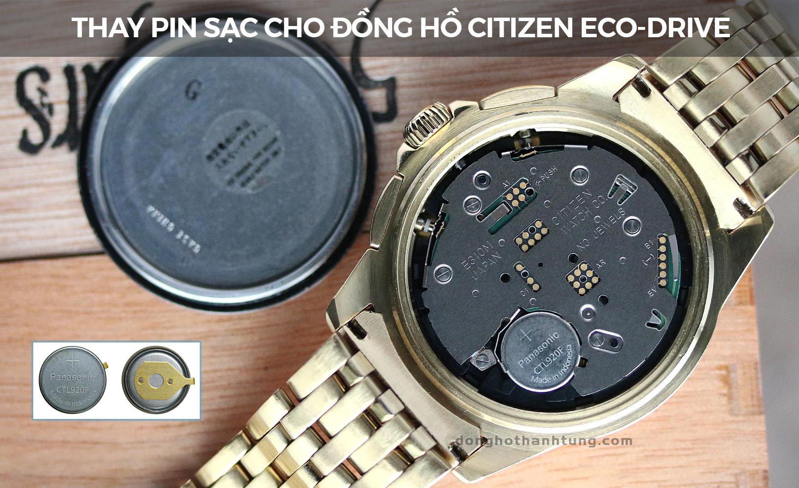 Thay pin đồng hồ sạc đeo tay Citizen